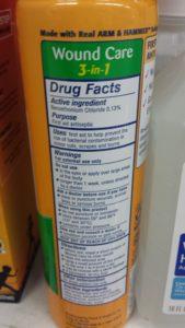 Simply Saline ingredient: Benzethonium Chloride 0.13%