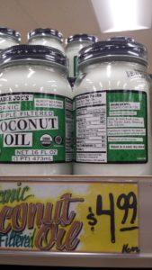 Coconut Oil at Trader Joe's